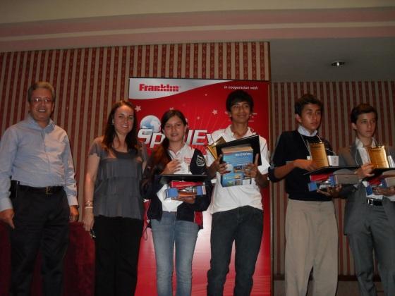 Tercer Spell Event que organizó MEXTESOL (Asociación Mundial de Profesores de Inglés) y Franklin Electronic Publishers (fabricantes de traductores electrónicos)