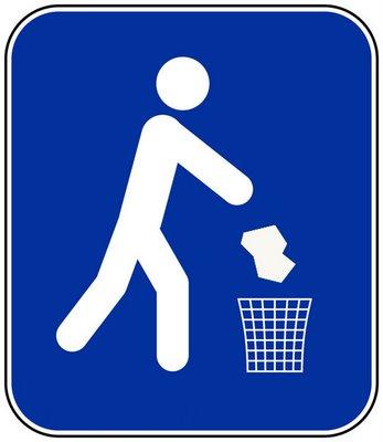 tirar basura